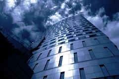 blue (Darek Drapala) Tags: blue sky urban building architecture clouds buildings europe poland polska panasonic warsaw warszawa skyskape panasonicg5
