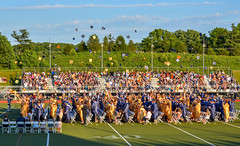 My Daughters Graduation (Daveyal_photostream) Tags: girls sky motion boys field clouds photoshop happy movement nikon chairs outdoor stadium vibrant highschool celebration hdr grads lightroom blueandgold capandgown d600 nikor awesomeshots mycamerabag anawesomeshot mygearandme meandmygear