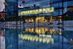 Urban reflections (Sizun Eye) Tags: longexposure urban france pool night reflections lights nikon le d750 tamron nuit reflets ladfense bassin urbain takis 2470mm hautsdeseine poselongue sizun tamron2470mmf28 sizuneye