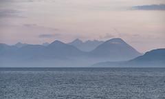 Skye from Applecross (Bruce Clarke) Tags: sunset seascape mountains lumix coast scotland isleofskye dusk roadtrip olympus shore westerross applecross vario m43 omdem5 panasonic35100mm northcoast500