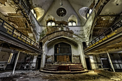 """And You Shall Say God Did It"" (Frank C. Grace (Trig Photography)) Tags: abandoned church nikon decay michigan detroit wideangle altar holy urbanexploration urbex whatwas d810 frankcgrace on1pics"