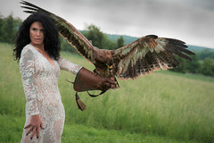 Die Frau mit dem Bussard (Godwi_) Tags: white black birds animals lady tiere outdoor hawk landing gloves raptor transparency harris transparent frau vgel schwarz landen handschuh greifvgel weis greifvogel bussard wstenbussard