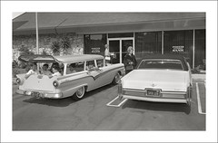 Vehicle Collection (7139) - Ford Country Sedan and Cadillac (Steve Given) Tags: ford automobile cadillac 1960s familycar socialhistory motorvehicle countrysedan