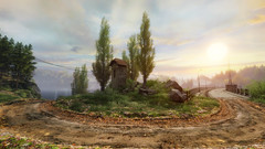 VOEC - 045 (Screenshotgraphy) Tags: sunset sky mountain lake game nature colors architecture clouds contrast montagne landscape pc screenshot lumire couleurs country lac ethan steam gaming ciel beaut carter concept nuages paysage vanishing campagne beautifull jeu naturelle urbain