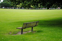 Lonesome park bench (zawtowers) Tags: park london sunshine bench walking 1 football warm walk exploring capital july saturday ring 2nd matches showers stroll section facing amble charlton 2016 woolwichfoottunneltofalconwood