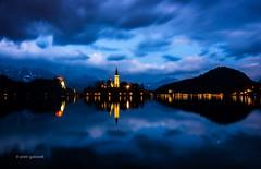 Enchanting Bled (pietkagab) Tags: bled lake church lights night longexposure reflection pietkagab piotrgaborek photography pentax pentaxk5ii slovenia europe travel trip sightseeing