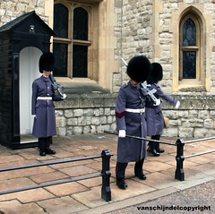 London - Chancing of the guards at The Tower (JanvanSchijndel) Tags: world city travel pink portrait england people color building london tower castle tourism window composition work geotagged costume interesting details famous country hill guard perspective visit location crown info jewels geotag