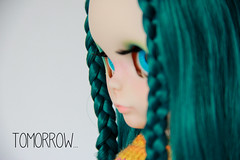 """From the bcn Blythecon, """"Ewa"""" (La Chica del Lunar ♥ (lunares)) Tags: alexis doll factory teal ooak pam blythe custom emerald ae"""