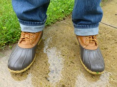Another day I'm glad I've got a pair of these (Jer*ry) Tags: wet rain boot shoe footwear yuck sloppy llbean yetagain outdoorgear
