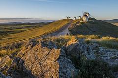 Gigantes (III) (jorge.alonsodejuan) Tags: light sky espaa mountain monument windmill lens dawn golden nikon rocks angle wide first shift hour giants d800 gigantes