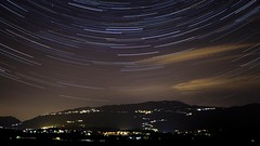 Star Trails Over Italian Hills Timelapse Montevecchia (RickyLoca) Tags: sky italy mountain night dark star long exposure italia mark space hill trails galaxy ii sphere planet astronomy universe brianza constellation celestial stelle spazio universo galassia montevecchia rickyloca