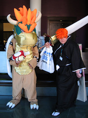 this would make a good crossover fightin game (annaneko) Tags: bowser cosplay bleach 2008 bostonma fandom con ichigo animeboston hynesconventioncenter