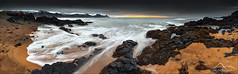 [ ... on the shore of búðir ] (D-P Photography) Tags: ocean panorama snow mountains ice clouds strand canon dark island iceland waves mood shore lee nd wellen budir ndgrad leefilters canoneos5dmarkiii