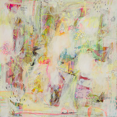 pam call me  (jennifer mercede) (jennifer mercede) Tags: pink red dog abstract flower green animal yellow cat butterfly painting portland landscape fun words colorful neon purple natural bright drawing teal circles free layers giraffe bouquet lime whimsical jennifermercede