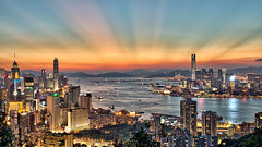 Hong Kong Sunset (arjalvaran) Tags: city sunset skyline night hongkong asia cityscape nightshot northpoint benro braemarhill 1855mmnikkor oloneo hdrengine