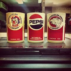 พิมพ์แก้วน้ำพลาสติก เป๊บซี่ | Screen print | Pepsi Chipperfields Circus in Bangkok 1986