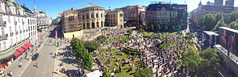 Stortinget 11. juni 2013 (Kjetil Lier Svendsen // Thanks for 200,000 views!) Tags: summer panorama oslo norway norge sommer sunny parliament norwegian stortinget oslocity karljohansgate storting lvebakken sommernorge stemmerettsjubileet