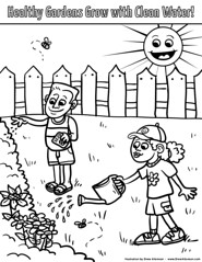 Sierra Club Coloring Page (Drew Albinson Creative) Tags: kids illustration print children drawing iowa page coloring client sierraclub freelance coloringbook cleanwater iowastatefair probono