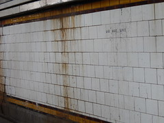 Do Not Spit (mikecogh) Tags: sign underpass tunnel tiles bleak grime request