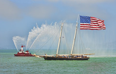 America's Cup Boat Parade (YT Blue) Tags: sanfrancisco yacht flag tallship sffd americascup fireboat oldglory stfrancisyachtclub