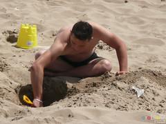 Barry Island July 2013 -  073 (marmaset) Tags: summer seagulls men beach seaside sand lads barry trunks swimmers sunbathers beachboys heatwave barryisland funinthesun rightcommon sunworhippers