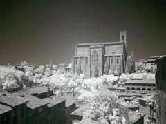 Through centuries (Lolo_) Tags: white black ir basilica tuscany infrared siena sienne basilique sandomenico 2013 cateriniana