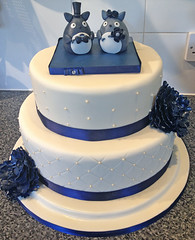 Navy Wedding Cake 1