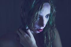 Many of Horror (Paula Ohmann) Tags: light red green window water girl hair shower drops natural many lips horror mermaid dribble