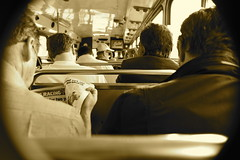 (Jesse Olney) Tags: bus cup sepia melbourne horseracing melbournecup