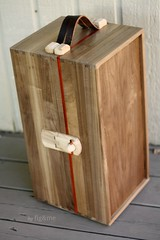 The Most Magnificent Steam Trunk Ever. (Fig & Me) Tags: leather handmade walnut ash handcrafted woodentoys arttoys padauk leatherstraps crafstmanship steamtrunk woodenhinges figandme dollchest