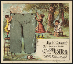J. & P. Coats' best six cord spool cotton. The leading machine thread. [front]