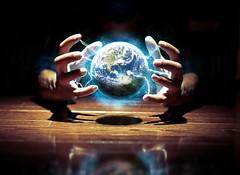 Captivate My World (Proleshi) Tags: world blue black photoshop self dark hands nikon energy power control earth orb sphere planet concept conceptual float cls captivate selfie levitate strobist d300s proleshi jamaljosephs