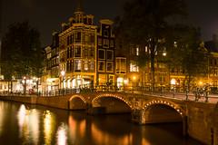 Amsterdam at night (gambajo) Tags: city bridge holland art water netherlands amsterdam night lights natur orte fluss nachtaufnahme niederlande gracht brücken gewässer bauwerke nordholland