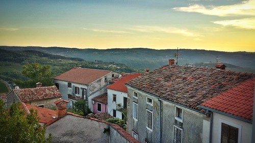 Dusk in Motovun, Croatia