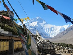 """Prayer flags and Everest • <a style=""""font-size:0.8em;"""" href=""""http://www.flickr.com/photos/95544223@N05/9974371654/"""" target=""""_blank"""">View on Flickr</a>"""