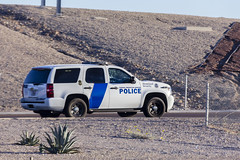 Rare find on day of the globally embarrassing government shutdown. (Pyrat Wesly) Tags: morning arizona canon tahoe police chevy commute goodyear federalprotectiveservice 60d efs18200mmf3556is