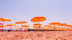 beach umbrellas #Flickr12Days (Radoslav Radev) Tags: beach umbrella sand sunsky watersea ilobsterit flickr12days