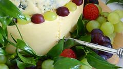 Wedding Cake (FARCE 68) Tags: wedding england food green cake fruit cheese dessert strawberry purple grapes grape rpovey