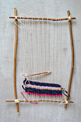 weaving frame (Pumora) Tags: nature diy natural branches homemade crafty twigs weaving weben