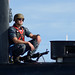A Sailor provides security for USS Scranton.