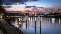 Basel Blue Hour (Frederic Huber | Photography) Tags: city longexposure nightphotography blue wat