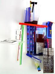 Die tiefe Mitternacht ( 2012 ) . Plexy, latté, miroir, film plastique, peinture, photo, aimant.. (emmanuelviard75) Tags: sculpture films structure transparence mobilité garedelyon atget murile plexy opacité