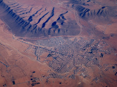 Guelmin, aerial photograph (adrian, acediscovery) Tags: africa above city mountain town sand desert dune aerial morocco settlement guelmim guelmin