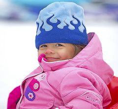 Shrugging off the cold (zarb67) Tags: winter ohio toddler sledriding