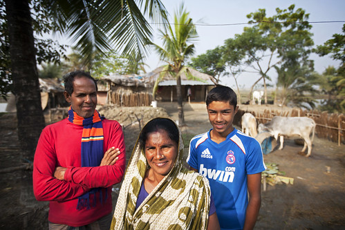 A family in Khulna, Bangladesh. Photo by Felix Clay/Duckrabbit.