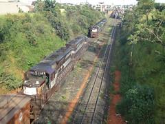 15897 DDM45 #878 + 837 separadas das DDM45 #858 + 834 + 817 + 815 (de traz) que continuaro com trem C757. Uberlndia MG (Johannes J. Smit) Tags: brasil vale trens efvm