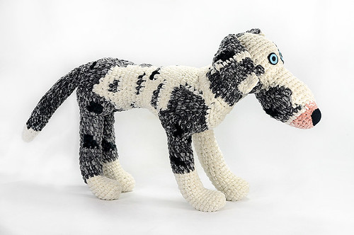 custom crocheted great dane