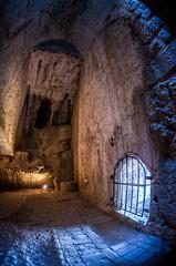Into the Catacombs (Kurayba) Tags: lighting new sunlight underground grate daylight town mixed pentax fisheye greece da tungsten catacombs corfu kerkyra fortress 1017 k5   smcpdafisheye1017mmf3545edif