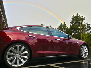 Tesla brings the rainbows — seen this morning ...