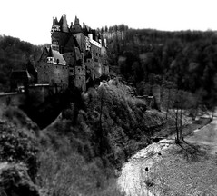 Burg Eltz (Justin LaBerge) Tags: park old travel trees homes sky bw cliff mountain tree tower castle history window nature water vertical skyline forest buildings river germany army outdoors ancient rocks europe king tour exterior princess fort famous burgeltz guard ruin royal prince landmark scene palace tourist medieval queen national german valley knight romantic mountainside mansion sight moat fortress rule burg mosel watchman eltz hil sightsee